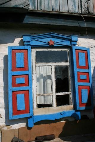 Окно  в башкирском доме