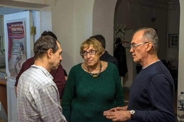 Марина Волкова и Виталий Кальпиди в Музее Серебряного Века