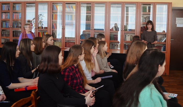 Янис Грантс и Марина Волкова в Челябинской областной библиотеке для молодежи